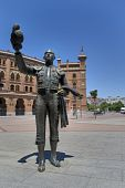 Statue of a bullfighter