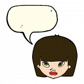 picture of annoyance  - cartoon annoyed woman with speech bubble - JPG