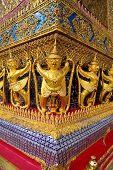 pic of glorify  - Golden garuda decoration in the temple of Emerald Buddha - JPG