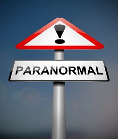 stock photo of paranormal  - Illustration depicting a sign with a paranormal concept - JPG