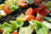 Fresh vegetable on a grill