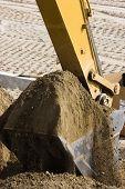 Excavator Bucket Full Of Dirt.