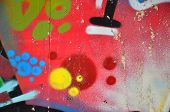 Street Art. Colorful Graffiti On The Wall. Fragment For Background. Abstract Detail Of A Graffiti poster