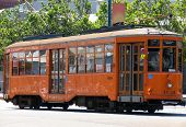 Historic Street Historic Street Car (orange) poster