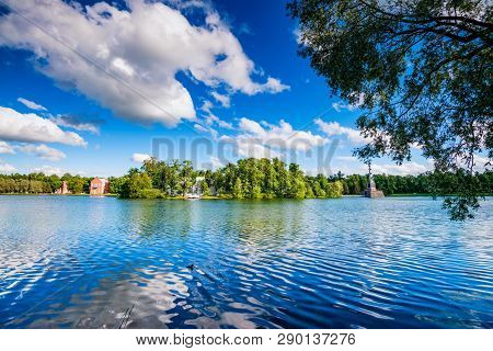 Beautiful Landscape With Pond In