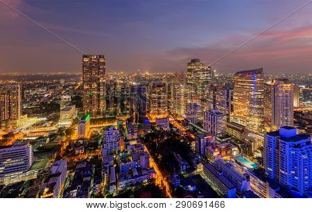 Aerial View Of Sathorn District
