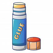 Glue Stick Icon. Cartoon Of Glue Stick Vector Icon For Web Design Isolated On White Background poster