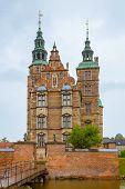 Rosenborg Castle In Copenhagen. Rosenborg Castle On Cloudy Summer Day In Copenhagen, Denmark. Rosenb poster