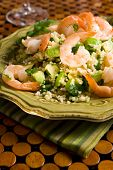 Bulgur Shrimp Salad With Avocado
