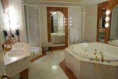 image of hot-tub  - Modern and spacious bathroom suite designed with luxury - JPG