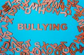 Word Bullying Of Wooden Letters poster