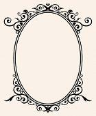 marco oval broche de oro