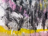 Rough Paint Dripping, Spray Paint Artwork. Abstract Background Oil Paint Painting Style. Damage To W poster