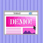 Word Writing Text Demo. Business Concept For Trial Beta Version Free Test Sample Preview Of Somethin poster