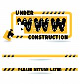 Website Construction - Under Construction Bars And Graphics