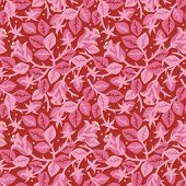 Roses In Bloom Floral Seamless Repeat Pattern