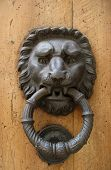 stock photo of assis  - Tuscan door knockers taken in assis Italy