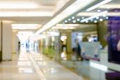 Blur Shopping Mall Walkway, For Background. Modern Store Walkway Abstract Defocused Blurred Backgrou poster