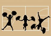 Cheerleaders Basketball 5