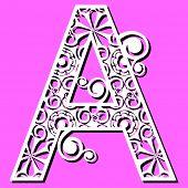 openwork alphabet, letter A