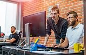 Developing Programming And Coding Technologies. Website Design. Programmer Working In A Software Dev poster
