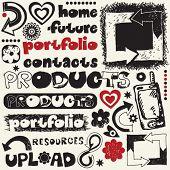 hand drawn web design elements