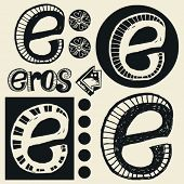 pic of ero  - scribble alphabet - JPG