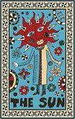 hand drawn tarot deck, major arcana, the raster version, the sun