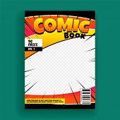 Comic Book Magazine Cover Page Design Template poster