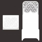 Laser Cut Envelope Template For Invitation Wedding Card poster