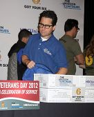 LOS ANGELES - NOV 9:  JJ Abrams at the Veterans Day Service Event to feed LA Children at Globe Theater at Universal Studios on November 9, 2012 in Los Angeles, CA
