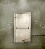 Exit Door, old-style vector