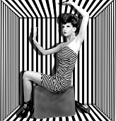 High Fashion Woman With Stripes Boxed
