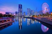 stock photo of kanto  - Skyline of Yokohama - JPG