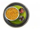 traditional south indian sambar rice served authentically