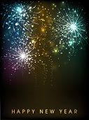 Happy New Year celebration background. EPS 10.