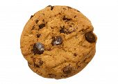 Single chocolate Chip Cookie w / Pfad