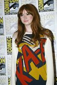 SAN DIEGO, CA - JULY 15: Karen Gillan arrives at the 2012 Comic Con convention press room at the Bay