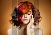 Beauty Portrait. Concept Coloring Hair