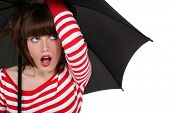 Funky woman with an umbrella