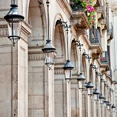 Streetlamps At Placa Reial, Barcelona poster