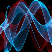 Smooth energy waves background