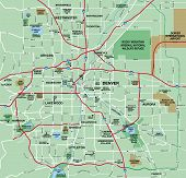 Denver, Colorado Metropolian Area Map