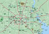 Greater Houston Texas Area Map