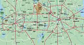 Dallas - Fort Worth Metropolitan Area Map