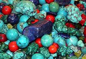 Ornamental turquoise gem