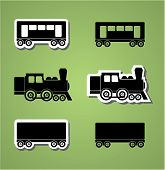 Train And Wagon Silhouettes