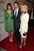 LOS ANGELES - AUG 6:  Diablo Cody, Nick Offerman, Julianne Hough arrives at the DirecTV Premiere of