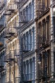 Cast Iron Facades In Soho, Manhattan, New York City