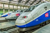 PARIS, FRANCE - JULY 7: TGV high speed french train in gare de Lyon station on July 7 , 2006 in Paris, France